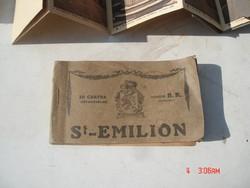 St.Emilion-Brüsszel,Antik.képeslapalbum/2db/