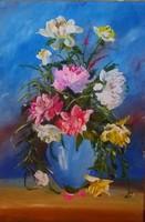Rózsák , festőkéses impresszió,