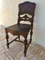 Ó Német  szék,díszes bőr borítással