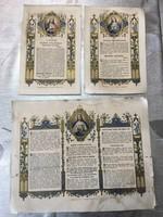 Kánontáblák lapjai