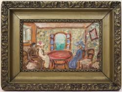 Rippl-Rónai József (1861-1927) Keretezett Olajfestmény
