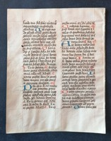 XV-ik századi kódexlap. Ritka!