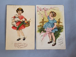 Gyönyörű szép antik Húsvét képeslapok gyerkekkel
