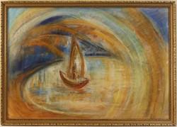 Egry József (1883-1951) Keretezett Pasztell Festmény