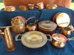 15 db álló nagy nagyobb méretű főző sütő edények nagyméretű lábas fedővel cca 3-4 l