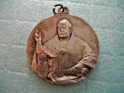 XI. Piusz Róma 1925. kegyérem, vallásos / egyházi / zarándok érem / medál