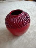 Olasz kerámia váza, 12 cm magas