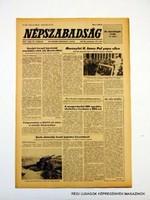 1981 május 14  /  NÉPSZABADSÁG  /  SZÜLETÉSNAPRA! RETRO, RÉGI EREDETI ÚJSÁG Szs.:  10777