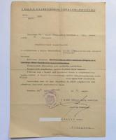 Kinevezem Önt a magyar államrendőrség kötelékébe 1946. r.altábornagy aláírásával