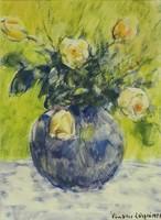 Vinkler László : Sárga virágok 1957