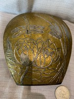 Bronz szitakötős váza