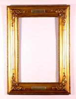 Bidermayer aranyozott, díszes fa tükörkeret eredeti 40x55 cm