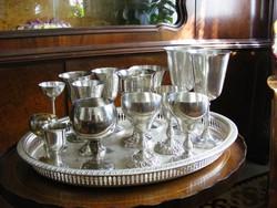 14 db gyönyörű, ezüstözött, antik és újabb kelyhek, különböző kivitelben, kisebb és nagyobb méretben