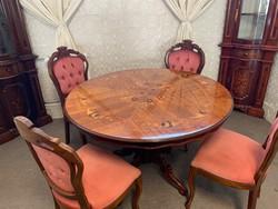 Neobarokk étkező kerek asztallal gyönyörű asztallal!