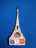 Régi valóban francia polcdísz utazó souvenír emlék Eiffel-torony gyűjtőknek a képek szerint