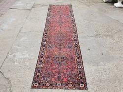 Lilihan kézi csomózású Iráni szőnyeg 297x80 cm