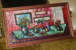 Vén Emil festmény asztali csendélet