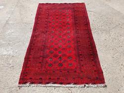 Afgán kézi csomózású szőnyeg 210x124 cm