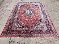 Kashan kézi csomózású Iráni szőnyeg 281x195 cm