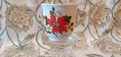 1 db. Zsolnay, Mikulásvirágos kávés csésze pótlásnak.