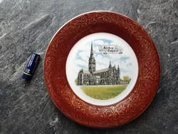 Salisbury Cathedral angol porcelán dísztányér
