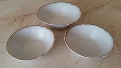 Porcelán KAHLA aranyszegélyes tál 3 db eladó!