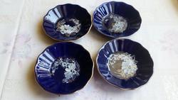 Antik , porcelán, kézzel festett kis tányér  eladó 4 db