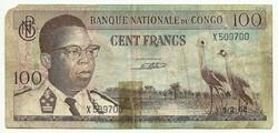 100 frank francs 1962 Kongó
