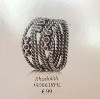 Pandora gyűrű rhodolittal