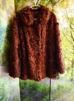 Valódi bőr női bunda kabát
