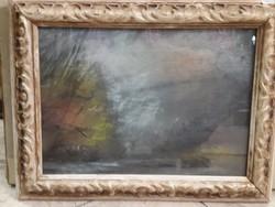Katona Nándor jelzéssel, 25 x 35 cm-es, pasztell festmény.