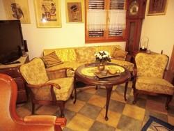 Barok ratán 4 darabos ülőgarnitura ,kinyitható kanapéval