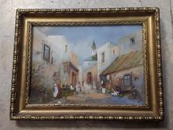 25 x 35 cm-es, tempera festmény, gyönyörű alkotás, lakberendezéshez.