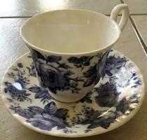 Eladó Roy Kirkham kék rózsás porcelán csésze és alj