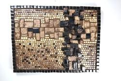 Bod Éva kerámia falidísz 1970 körüli iparművészeti, retro kerámia(03733)