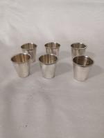 Ezüst likőrös vagy pálinkás  pohár készlet 6 db