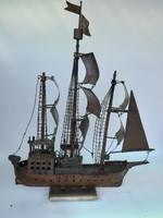 Hajó  makett rézből  120.000 forintért