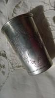 Antik Ezüst keresztelő pohár szép díszítéssel 85 mm, jelz.