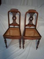 Viktória korabeli 2 db nádazott szék
