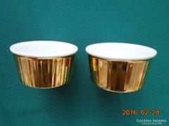 Royal Worcester arany mázas szuflé forma  2 db