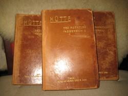 HÜTTE I-II-III. kötet ,Berlin 1911.  mérnöki zsebkönyv  ,bőr kötés, az egyik leg elfogadottabb ,