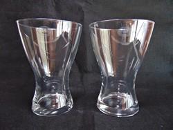 Modern jelzett üvegváza párban
