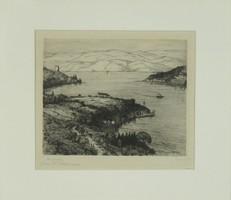 "Német grafikus 1930 körül : ""Bosporus"""