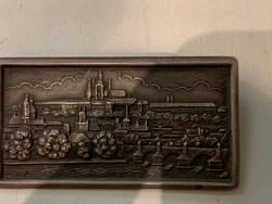 Ezüst bross, kitüzző Prága látképe