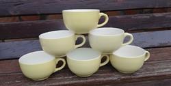 Gránit sárga csészék, csésze 6 db, Nosztalgia darabok