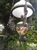 Függő lámpa lüszter majolika betétes szecessziós