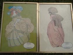 2 db  litográfia 1775-1780- méretük:43 x 31 szép állapotban ...