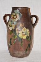 Nagyméretű régi kétfülű virág csendélettel