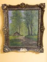 Mesterházy Dénes ( 1900-1949 ) Erdőrészlet, olaj-vászon