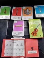 Hangszer kvartett-Retró kártyajáték.